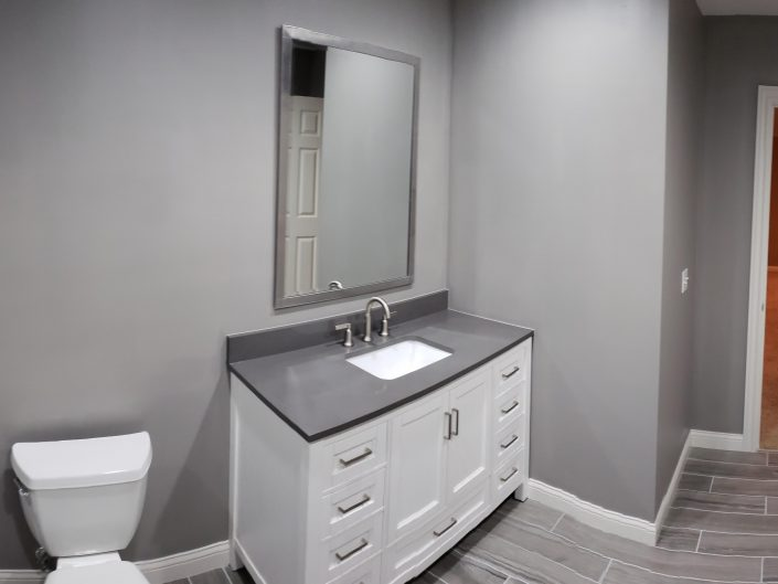 gray bathroom remodel