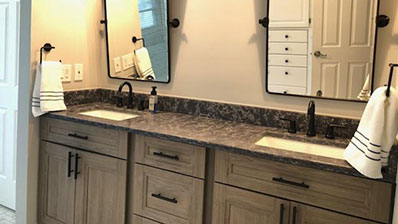 New Bathroom cabinets