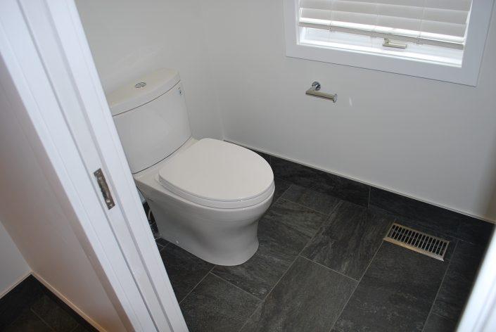 custom tile and pocket door